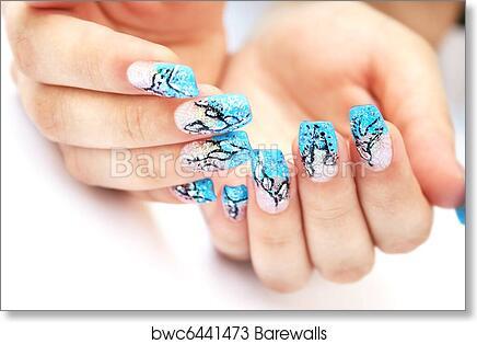 Art Print Of Hands With Nail Art Barewalls Posters Prints
