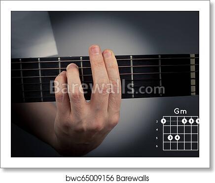 Guitar Chord On A Dark Background G Minor Chord Gm Tab Fingering Art Print Barewalls Posters Prints Bwc65009156