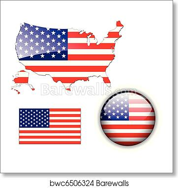 North American USA flag map and but art print poster on american revolution bicentennial flag, map of the united states area codes, texas united states flag, map of the united states black, map of the world flag, map of the statue of liberty, map of the philippines flag,