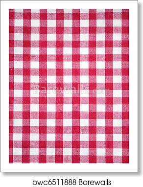 Red Checkered Tablecloth Art Print Barewalls Posters Prints