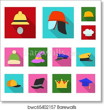 dd494a579388b Bitmap design of headwear and cap logo. Set of headwear and accessory bitmap  icon for stock