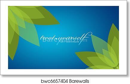 art print of treat yourself gift certificate barewalls posters