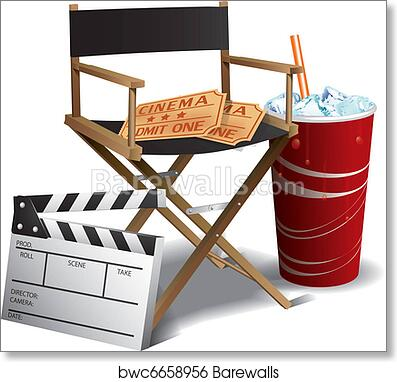 Art Print of Movie director chair  sc 1 st  Barewalls & Movie director chair art print poster