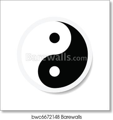 Art Print Of Yin Yang Symbol Barewalls Posters Prints Bwc6672148