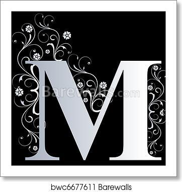 Art Print Of Capital Letter M