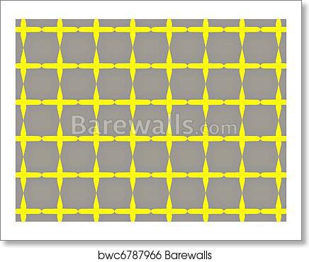 Gray and yellow checkered wallpaper