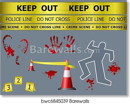Body Print Clip Art Crime Scene