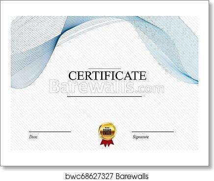 Blank Certificate Design from images.barewalls.com