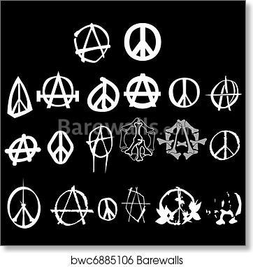 Art Print Of Anarchy Logo Barewalls Posters Prints Bwc6885106