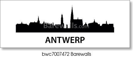 Skyline Antwerp Art Print Barewalls Posters Prints Bwc7007472