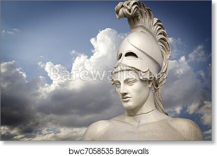 art print of greek sculpture of the general pericles greek art