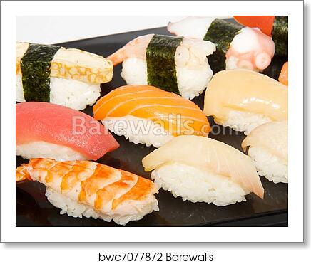 Japan Traditional Food Sushi Art Print Poster