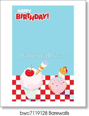art print of picnic party invitation design barewalls posters