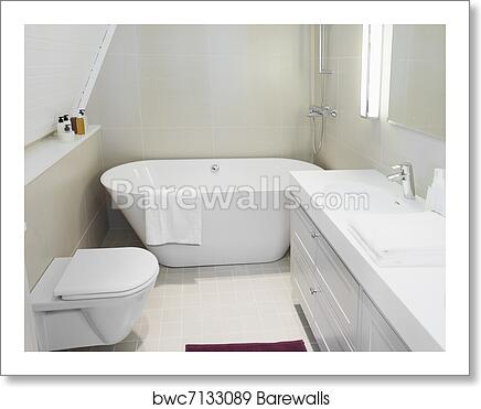 Modern Bathroom Art Print Barewalls Posters Prints Bwc7133089