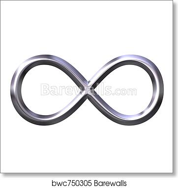 Art Print Of 3d Silver Infinity Symbol Barewalls Posters Prints