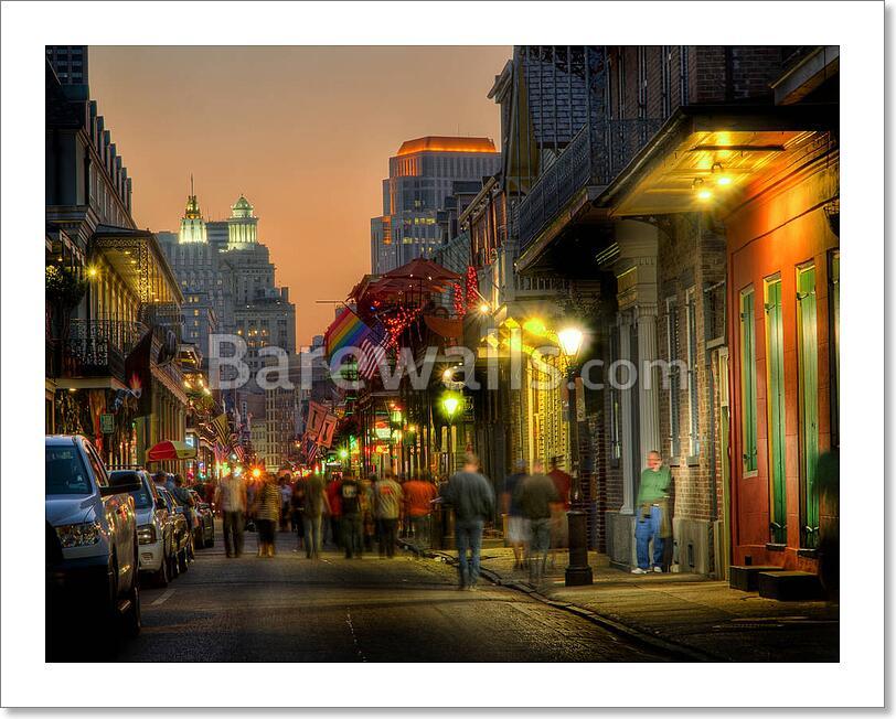Bourbon Street New Orleans Art Print Home Decor Wall Art Poster - B ...
