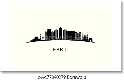 Erbil City Skyline Art Print Barewalls Posters Prints Bwc77390279