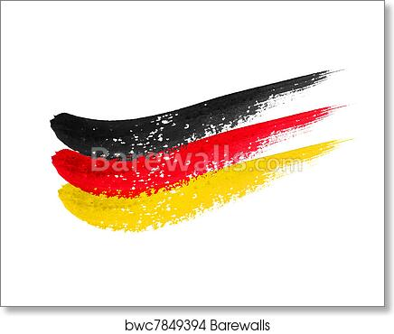 art print of brushstroke flag germany barewalls posters prints