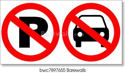 image regarding Printable No Parking Signs titled No parking indicators artwork print poster