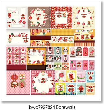 art print of chinese new year card