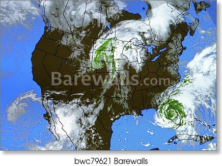 Airport Weather Map.Real Weather Map Art Print Barewalls Posters Prints Bwc79621