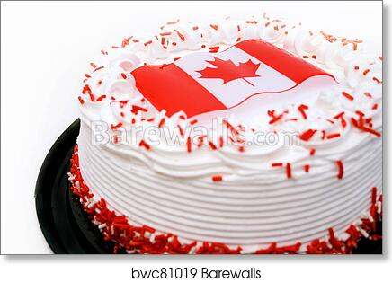 Fantastic Canada Themed Cake Art Print Barewalls Posters Prints Bwc81019 Funny Birthday Cards Online Chimdamsfinfo