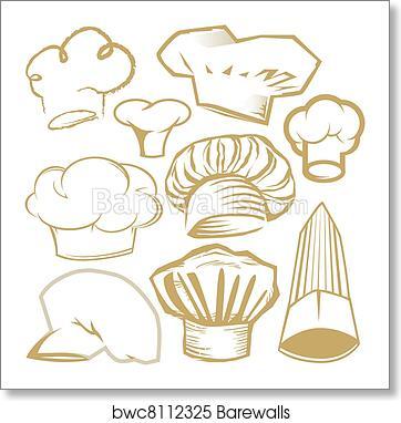 e1858475 Chef Hat Collection, Art Print | Barewalls Posters & Prints | bwc8112325