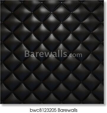 Black Leather Upholstery Texture Art Print Barewalls Posters