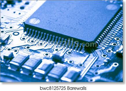 art print of electronic circuit board barewalls posters prints