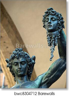 Florence Perseus Holding The Head Of Medusa By Cellini Benvenuto Cellini Perseus Holding The Head Of Medusa One Of The Most Famous Statue In The