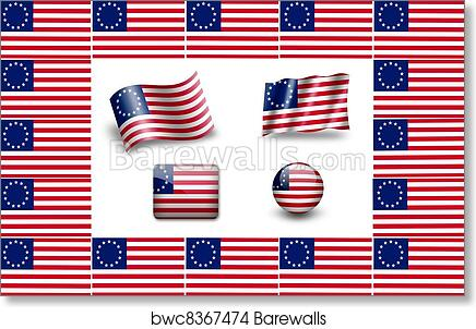 photograph relating to Betsy Ross Printable Pictures identify Betsy ross flag icon preset artwork print poster