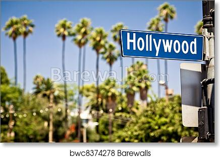 Art Print Of Hollywood Sign In LA