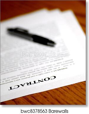 art print of signing contract barewalls posters prints bwc8378563