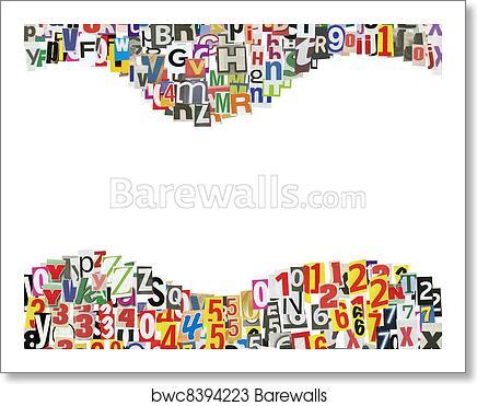 Art Print of Newspaper abc frame | Barewalls Posters & Prints ...