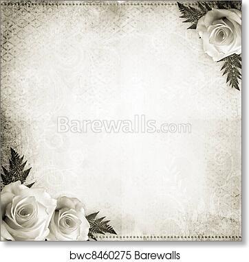 vintage beautiful wedding background art print barewalls posters prints bwc8460275 vintage beautiful wedding background