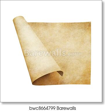 Old Parchment Paper Scroll Art Print