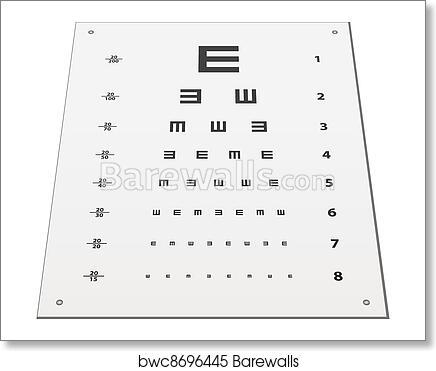 Art Print Of Vector Snellen Eye Test Chart Barewalls Posters