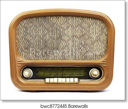 Old radio art print poster