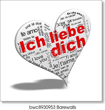 Ich Liebe Dich Art Print Barewalls Posters Prints Bwc8930953