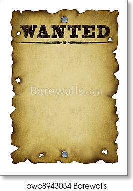 bf9f976229fc44 Old Western Wanted Poster