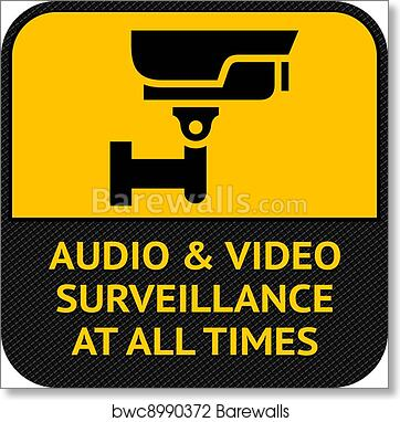 Cctv Poster Warning