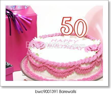 Pleasing Happy 50Th Birthday Art Print Barewalls Posters Prints Personalised Birthday Cards Veneteletsinfo