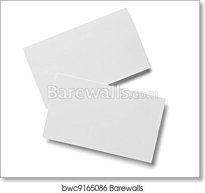 Art print of leaflet letter business card white blank paper template art print of leaflet letter business card white blank paper template reheart Gallery