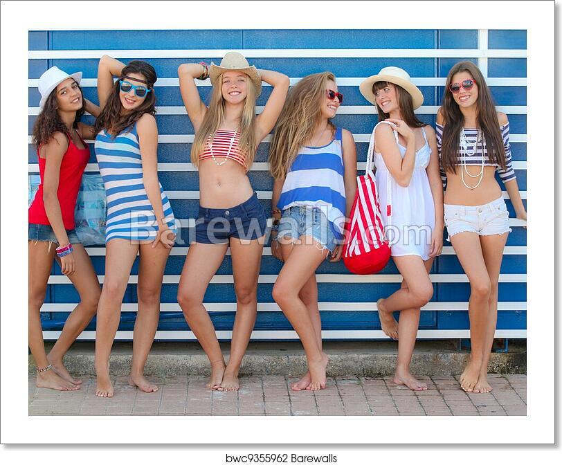 Teens on the beach
