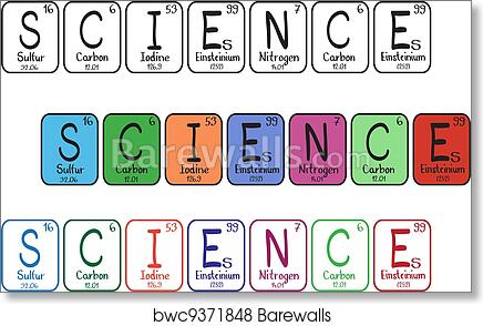 Art Print Of Periodic Table Elements Science Buttons Barewalls