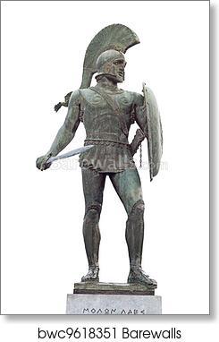 art print of greek ancient warrior barewalls posters prints