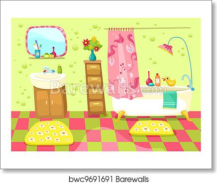 Bathroom Art Print Barewalls Posters Prints Bwc9691691