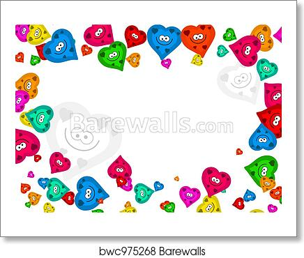 Art Print of Heart frame | Barewalls Posters & Prints | bwc975268