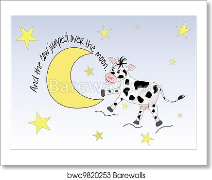 Art Print Of Cow Jumping Over The Moon