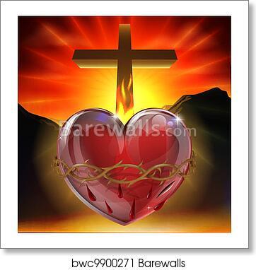 sacred heart of jesus christ dali painting